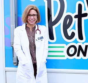 Dr Dixon next to petvet van: Appointment Request in Rennselaer